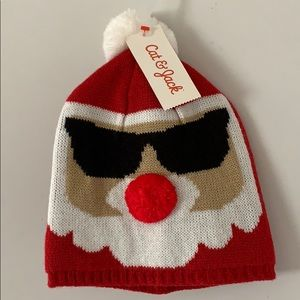Other - Christmas holiday Santa hat Pom Pom scully beanie